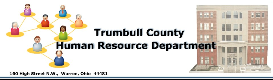 Heading introducing the Trumbull County Human Resource Department.